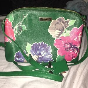 Kate Spade Green Floral Crossbody
